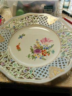 """Porcelain paint """"some flowers"""""""