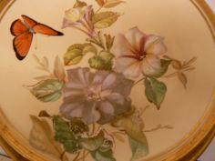 FANTASTIC PAIR OF AYNSLEY HANDPAINTED GILDED DESSERT / CABINET PLATES C1875 | eBay