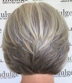 Ashy Hairstyle with Stacked Layers