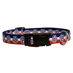 Yellow Dog Design Patriotic Paws Dog Collar with Tag-A-Long ID Tag System-Large-1' and fits Neck 18 to 28' > You can get more details here : Cat Collar, Harness and Leash