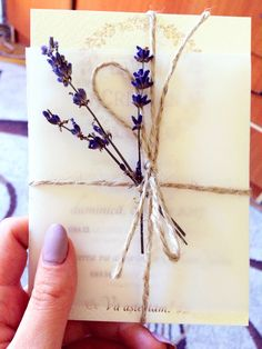 My handmade lavander wedding invitation