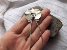 Handcrafted Orchid Flower Hair Pin