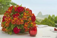 One Love Fotografia: Decoração de Casamento: Vermelho e Laranja