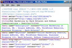 Visuel du script représentant les méta-données.