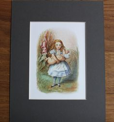 Alice in Wonderland Mounted Print - Lewis Carroll Alice Through the Looking…