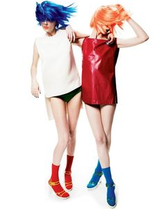 'Kaleidoscopic Color' Merethe Hopland & Monika Sawicka by Gregory Harris for Interview May 2011