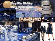 Wedding Color Schemes and Themes: Navy Blue Wedding. Starry Nights Theme.