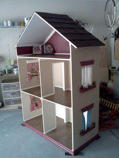 handmade doll houses   The Alyssa - Handmade Doll House for 18 Inch Dolls (American Girl Dol ...