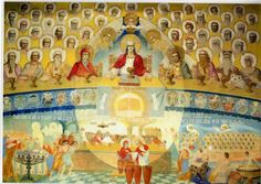 Draganescu Church painted by Father Arsenie Boca Romania, Altar, Landscape, History, Country, Sf, Father, Paintings, Amazing