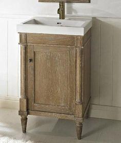"Rustic Chic 21"" Bathroom Vanity and Sink 142-V21 by Fairmont Designs.  www.kitchenandbathwarehouse.com"