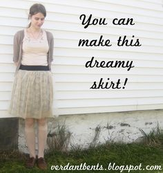 Make your own lace skirt