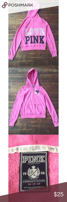 PINK VS zip up sweater great for fall 🍂🍁🎃 ✨EUC  ✨measurements upon request  ✨no trades  ✨if you have any other questions let me know   Always thank you for shopping and don't forget to save 20% by bundling PINK Victoria's Secret Sweaters