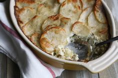 Artichoke, Leek & Potato Casserole by @Julie Forrest | The Little Kitchen on @Katie Schmeltzer Goodman (Good Life Eats).