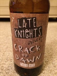 Crack of Dawn IPA, Late Knights, provided by HonestBrew