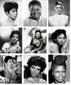 Diahann Carroll, Hattie McDaniel ,Lena Horne, Ruby Dee, Ethel Water, Dorothy Dandridge, Pam Grier, Eartha Kitt, and Cicely Tyson