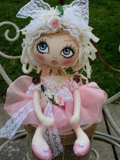 OOAK Handmade Art Rag Doll~India Cake