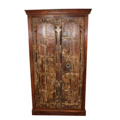 Items similar to Antique Rustic Armoire Handcarved Old Wood Iron Door Armoire Farmhouse Furniture Storage Wine Cabinet Interior Design on Etsy Armoire Antique, Antique Wardrobe, Armoire Cabinet, Armoire Wardrobe, Shaker Furniture, Wood Furniture, Furniture Storage, Antique Furniture, Old Wood