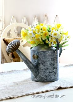 flowers.quenalbertini: Flowers in a  Watering Can | common ground