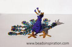 Beads Inspiration: Pavo Real   Peacock Peacock, Beading, Crown, Inspiration, Jewelry, Corona, Jewlery, Bijoux, Peacocks