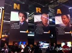 National Rifle Association booth at the 2014 SHOT Show Shot Show, Trials And Tribulations, Over The Years, Shots, Train, Zug, Strollers