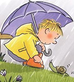 plantilla tabbed Yellow Umbrella, Umbrella Art, Colorful Drawings, Easy Drawings, Rainy Day Drawing, Envelope Art, Beginner Painting, Cat Crafts, Children's Literature
