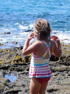 Exploring the tide pools. Credit - Michael Fisher Michael Fisher, Tide Pools, Getting Out, Exploring, Bikinis, Swimwear, Outdoor Living, Backyard, Doors