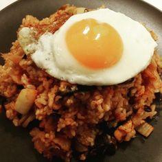 Kimchi Fried Rice 김치 볶음밥  Rice = 밥 (bap)  www.mylanguageconnect.com Kimchi Fried Rice, Bap, Korean Food, Fries, Culture, Ethnic Recipes, Travel, Voyage, Korean Cuisine