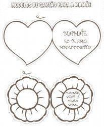 Modelos Cartões Dia das Mães
