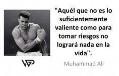 """""""Aquél que no es lo suficientemente valiente como para tomar riesgos no logrará nada en la vida"""". #FraseDelDia"""
