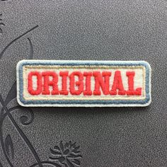 Vintage patch ORIGINAL Iron on Patches Embroidered Iron-On Patches sew on patches