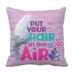 Trolls | Put Your Hair in the Air Throw Pillow