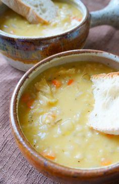 Creamy Chicken and Rice Soup   omit the Flour and this would work great
