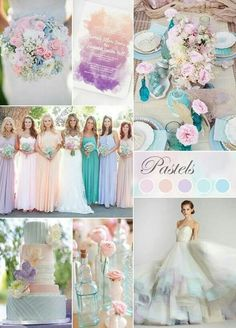 pastels make a fun color palette for spring time weddings