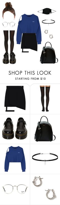 """""""Untitled #1145"""" by janita-slavilova ❤ liked on Polyvore featuring Wolford, Dr. Martens, DKNY, Ray-Ban and Topman"""