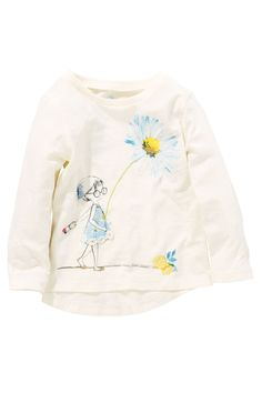 Buy Two Pack Girl And Yellow Broderie T-Shirts (3mths-6yrs) from the Next UK online shop