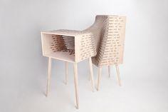 Kata Mónus Experimental Furniture Hybrid Shaped Of Wood And Textile