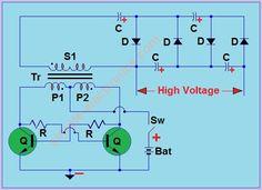 Mosquito Racket Circuit | simple electronics
