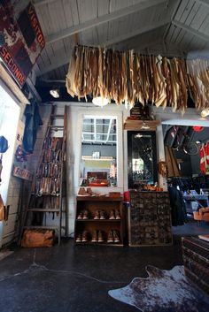 Imogene + Willie in Nashville. Is this a home or a shop or an studio? Regardless, I wanna go there! It's a shop! Belt Display, Second Hand Shop, Office Workspace, Down South, Store Displays, Shop Interiors, Vintage Country, Store Fronts, Visual Merchandising