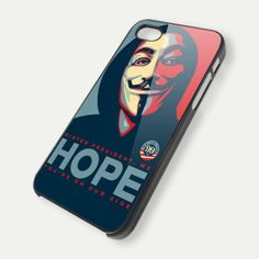 V for vendetta HOPE iPhone 5 Case 4/4s,5/5s/5c, Samsung Galaxy s3/s4 Case