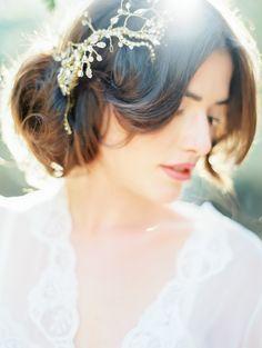 #Hair Vine   Coco Tran Photography   On SMP - http://www.StyleMePretty.com/california-weddings/2014/01/06/french-bridal-boudoir/