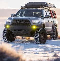 Save by Hermie Lifted Tacoma, Toyota Tacoma 4x4, Tacoma Truck, Toyota Tundra, Jeep Truck, Toyota 4runner, Overland Tacoma, Overland Truck, Expedition Truck