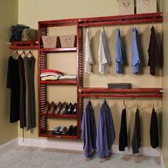 "John Louis Home John Louis Home 96""W Closet System Finish: Red Mahogany"