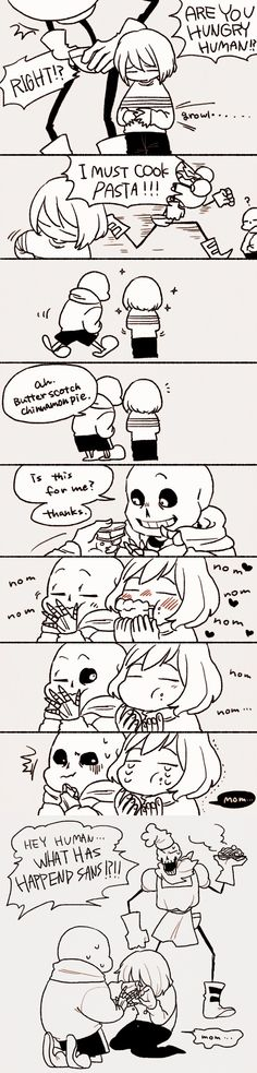 Sans, Frisk, and Papyrus - comic