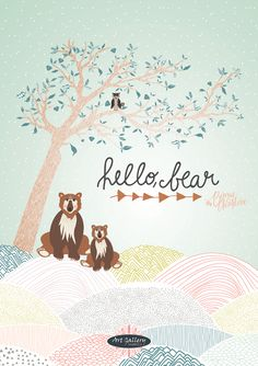 Hello, Bear fabric line by Bonnie Christine for Art Gallery Fabrics, named after her son Bear - available January 2015