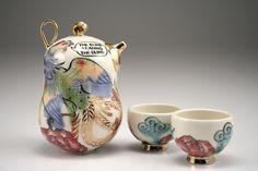 """Genuine Fake China series - """"Village expert"""" teapot"""