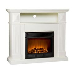 Real Flame Fresno 72 in. Media Console Electric Fireplace in Black ...
