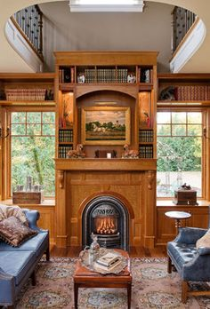 Fireplaces - traditional - home office - seattle - DK Martin Construction