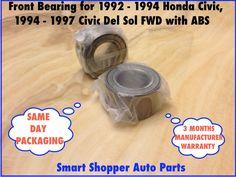 Front Wheel Bearing 1994 Integra Civic Del Sol 1992 2005 Honda Civic With Abs Ebay Honda Civic Civic Honda