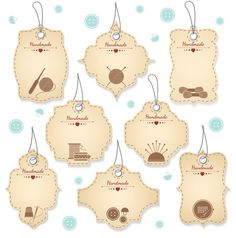 Nice Handmade Tag Designs by Microvector on Creative Market