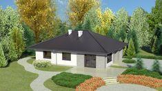 Wizualizacja Dom przy Słonecznej 6 CE Smart Home, Gazebo, House Plans, Construction, Outdoor Structures, House Design, How To Plan, Outdoor Decor, Gallery